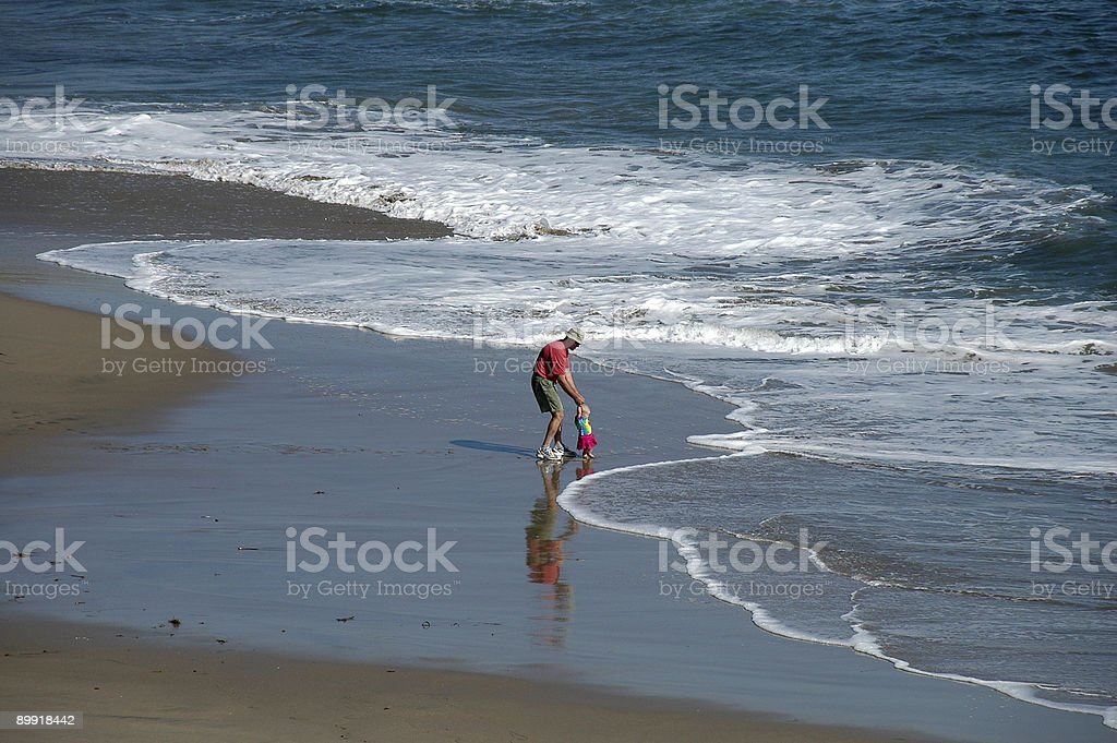 Introduce me to the ocean Dad royalty-free stock photo