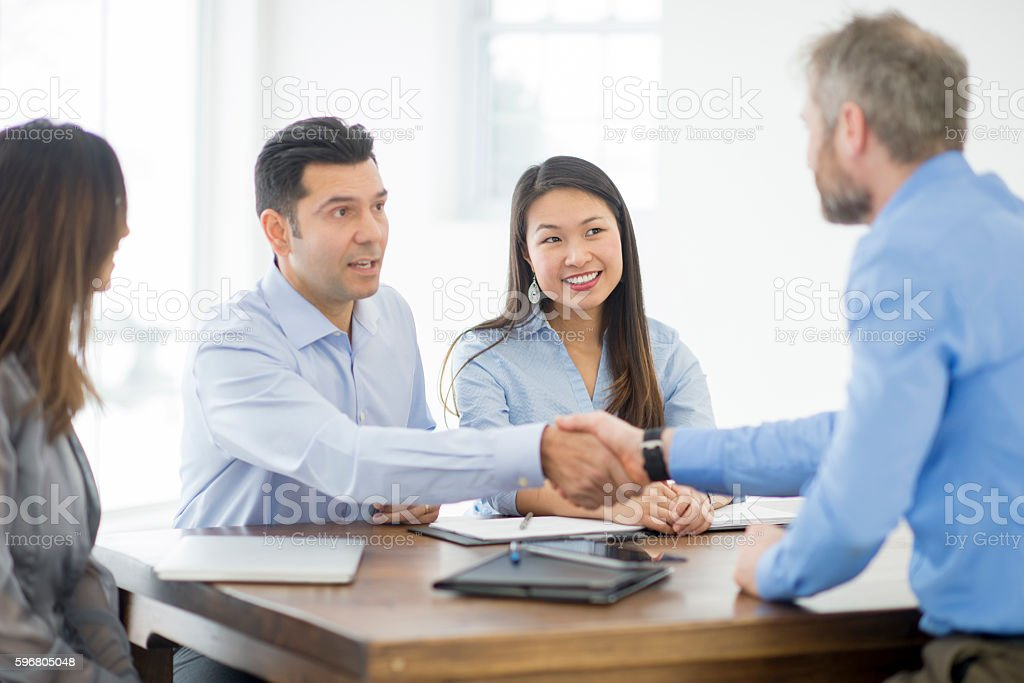 Introducing a New Employee stock photo