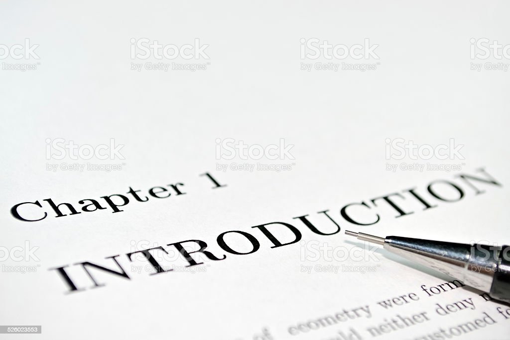 Introduction stock photo