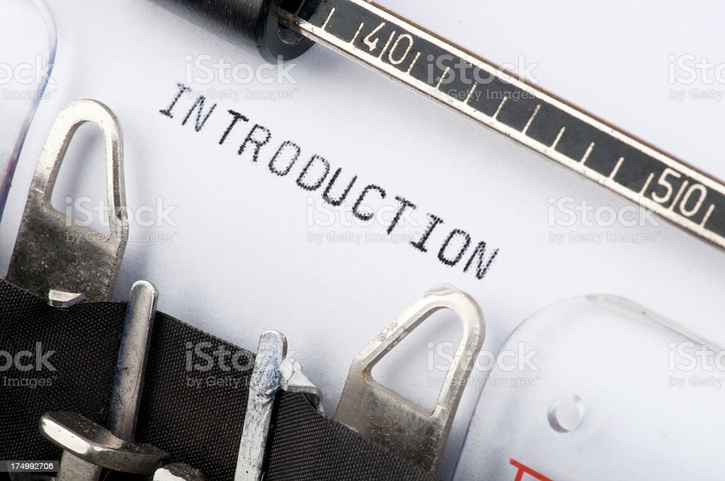 Introduction typed on old typewriter royalty-free stock photo