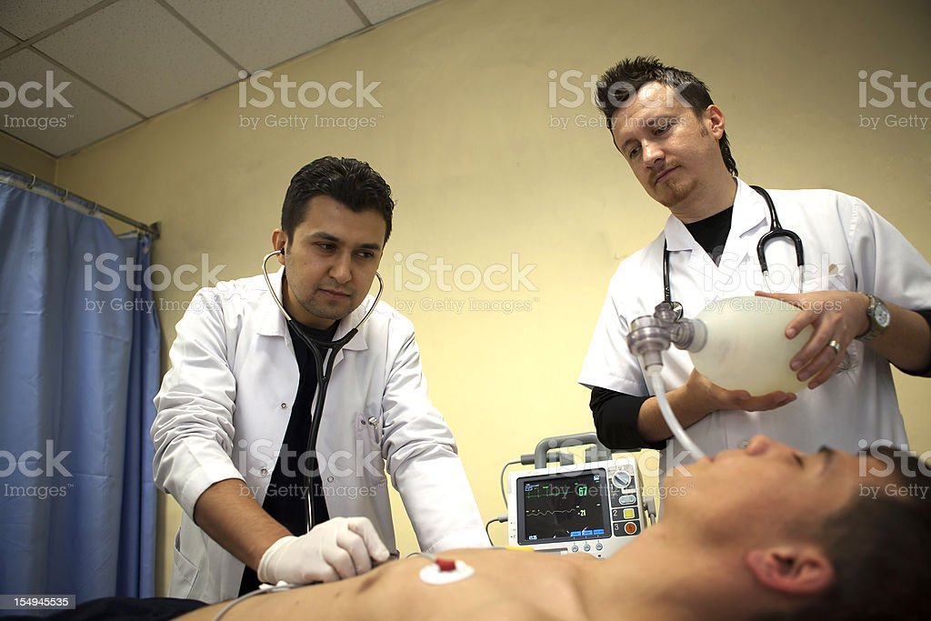 Intubation of a patient stock photo