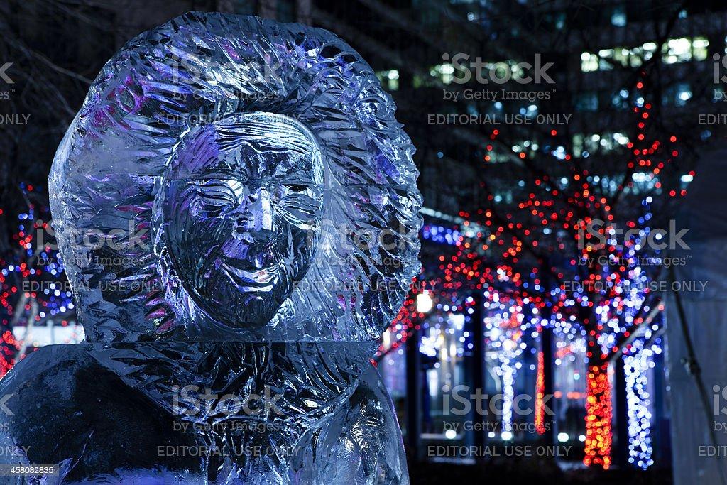 Inuit - ice sculpture stock photo
