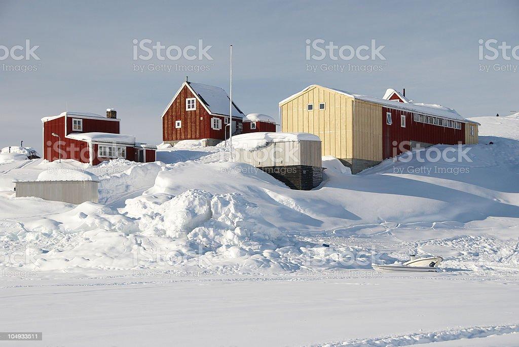 Inuit Village royalty-free stock photo