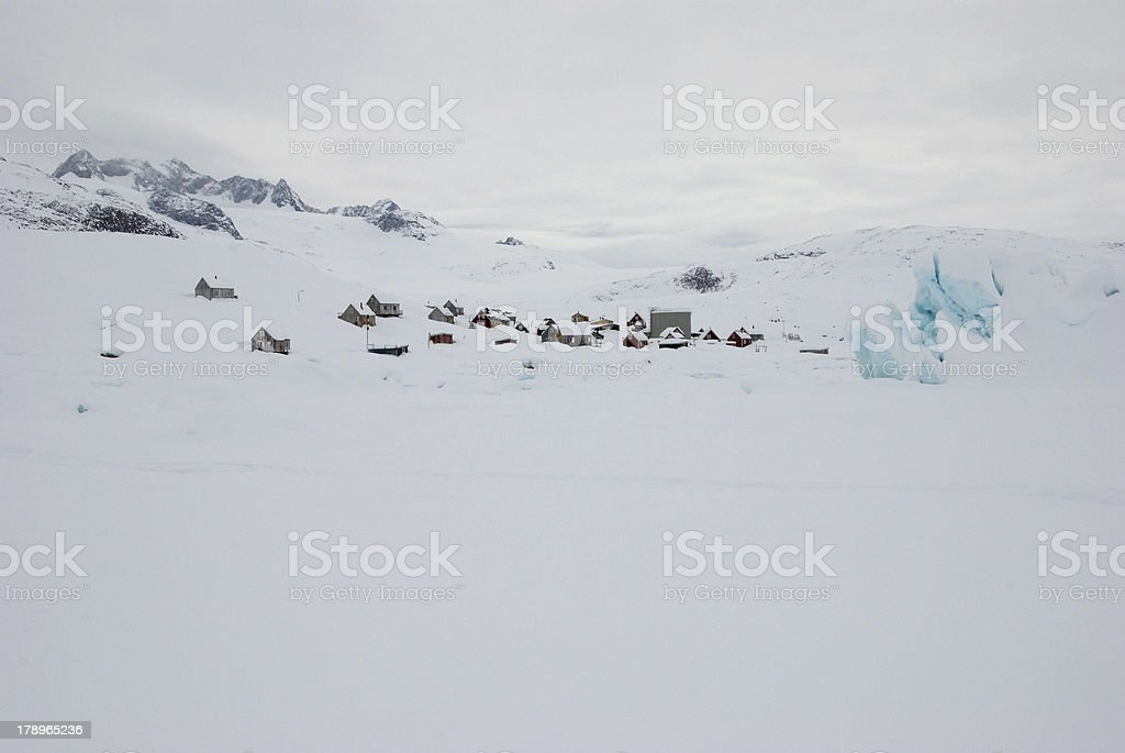 Inuit village royalty-free stock photo