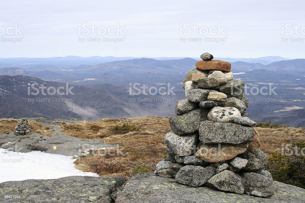 Inukshuk on Algonquin Mountain stock photo