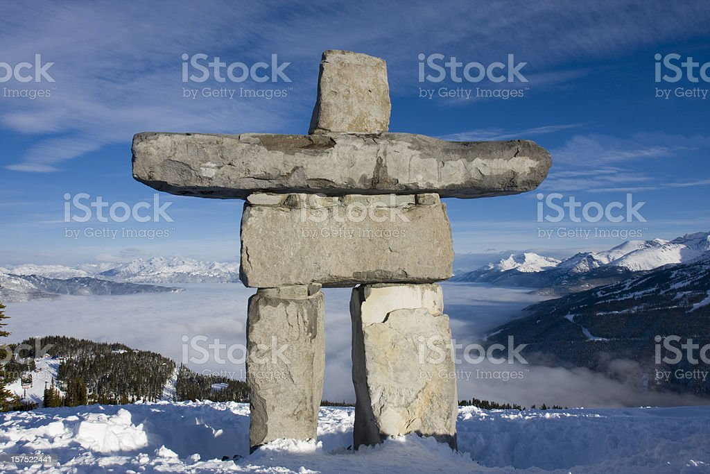 Inukshuk. royalty-free stock photo
