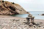 Inuksuk Cairn at Meat Cove - Nova Scotia - Canada