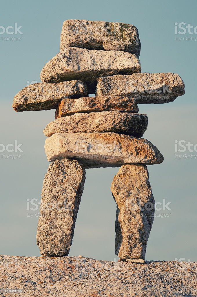 Inuksuk royalty-free stock photo