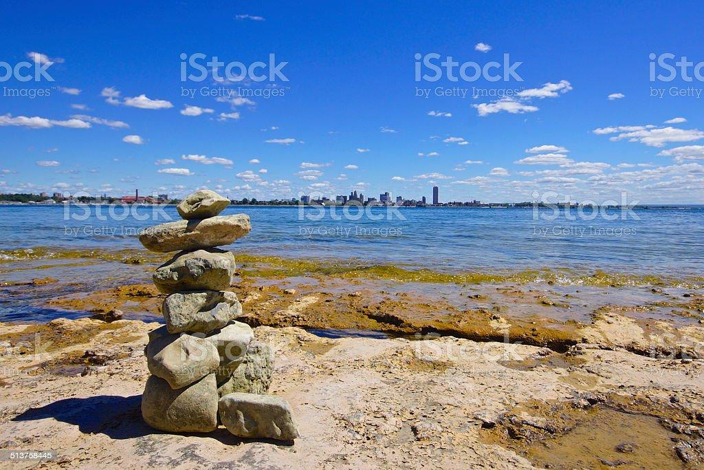 Inuksuk stock photo