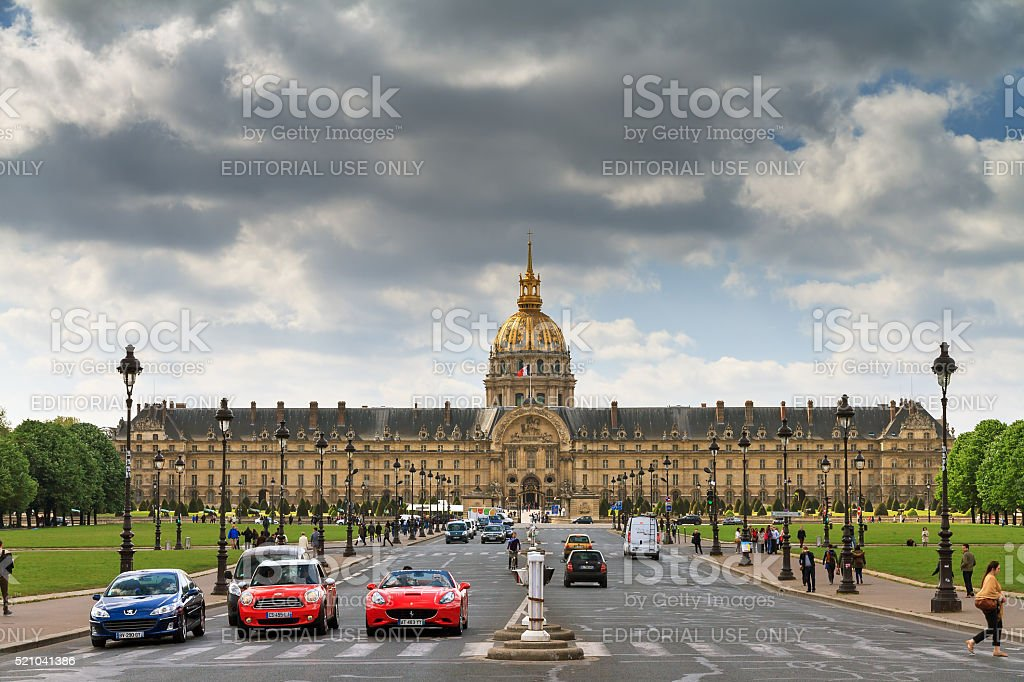 Invalides cars stock photo