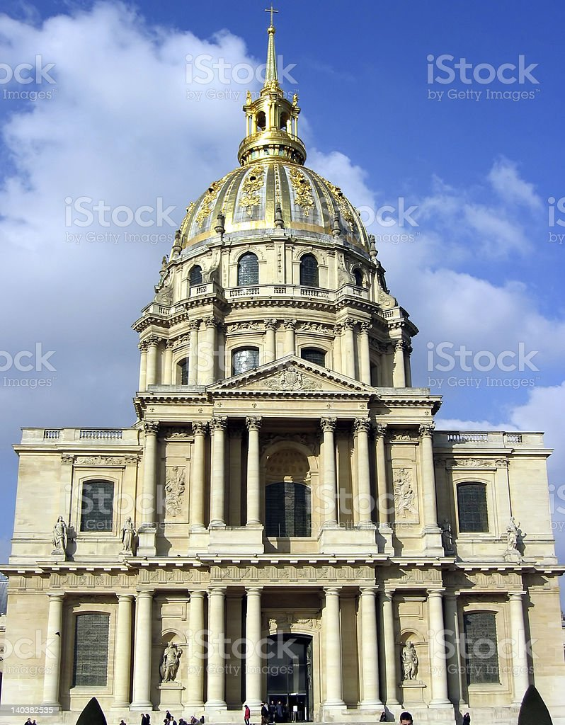 Invalides museum stock photo