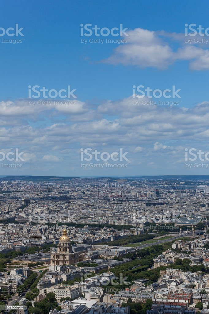 Invalides with the Clouds stock photo
