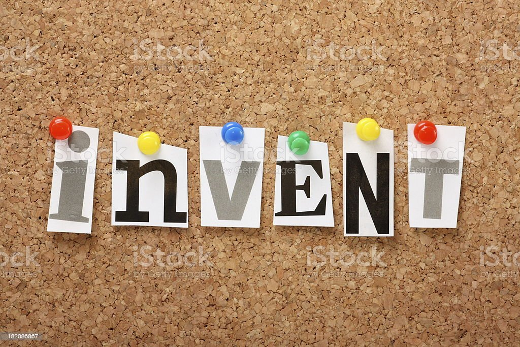 Invent royalty-free stock photo