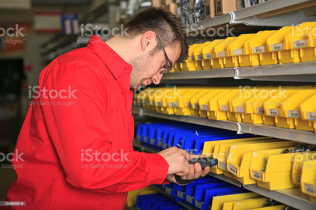 Inventory at Hardware Store royalty-free stock photo