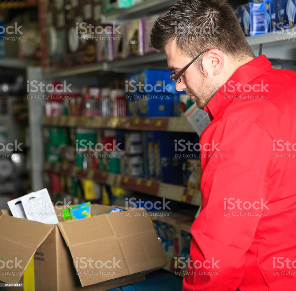 Inventory Rack Hardware Store royalty-free stock photo