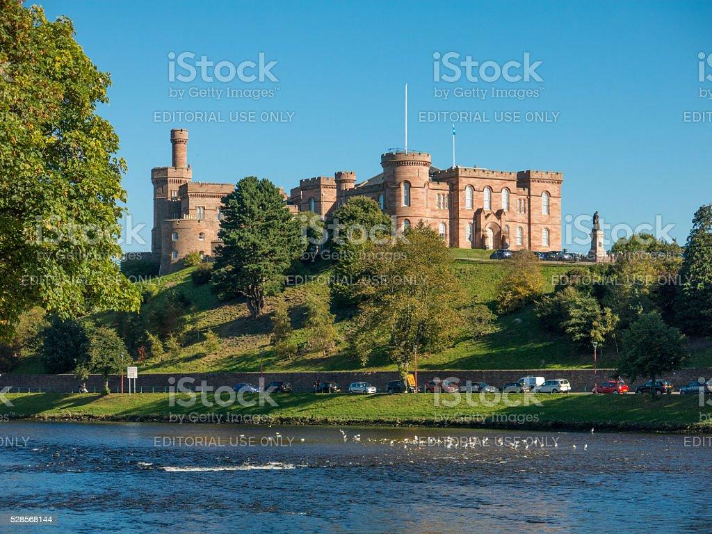 Inverness Castle on the River Ness Scotland stock photo