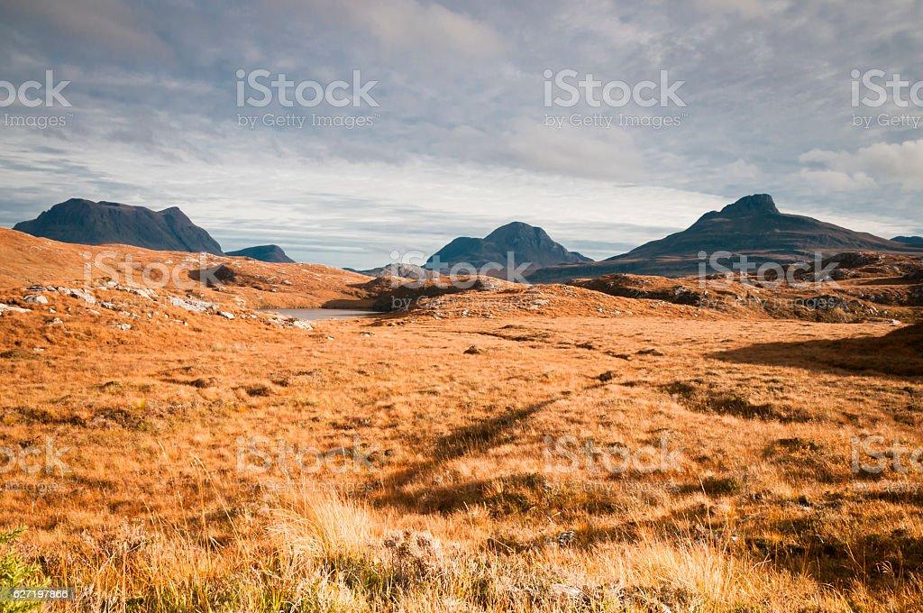 Inverpolly Mountains stock photo