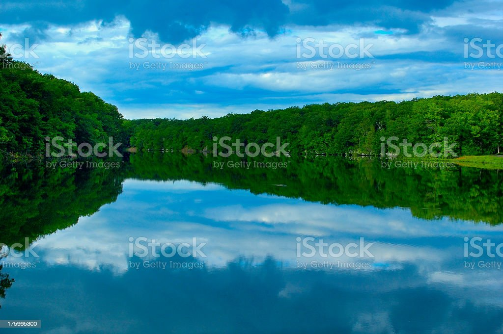 Inverse Clouds stock photo