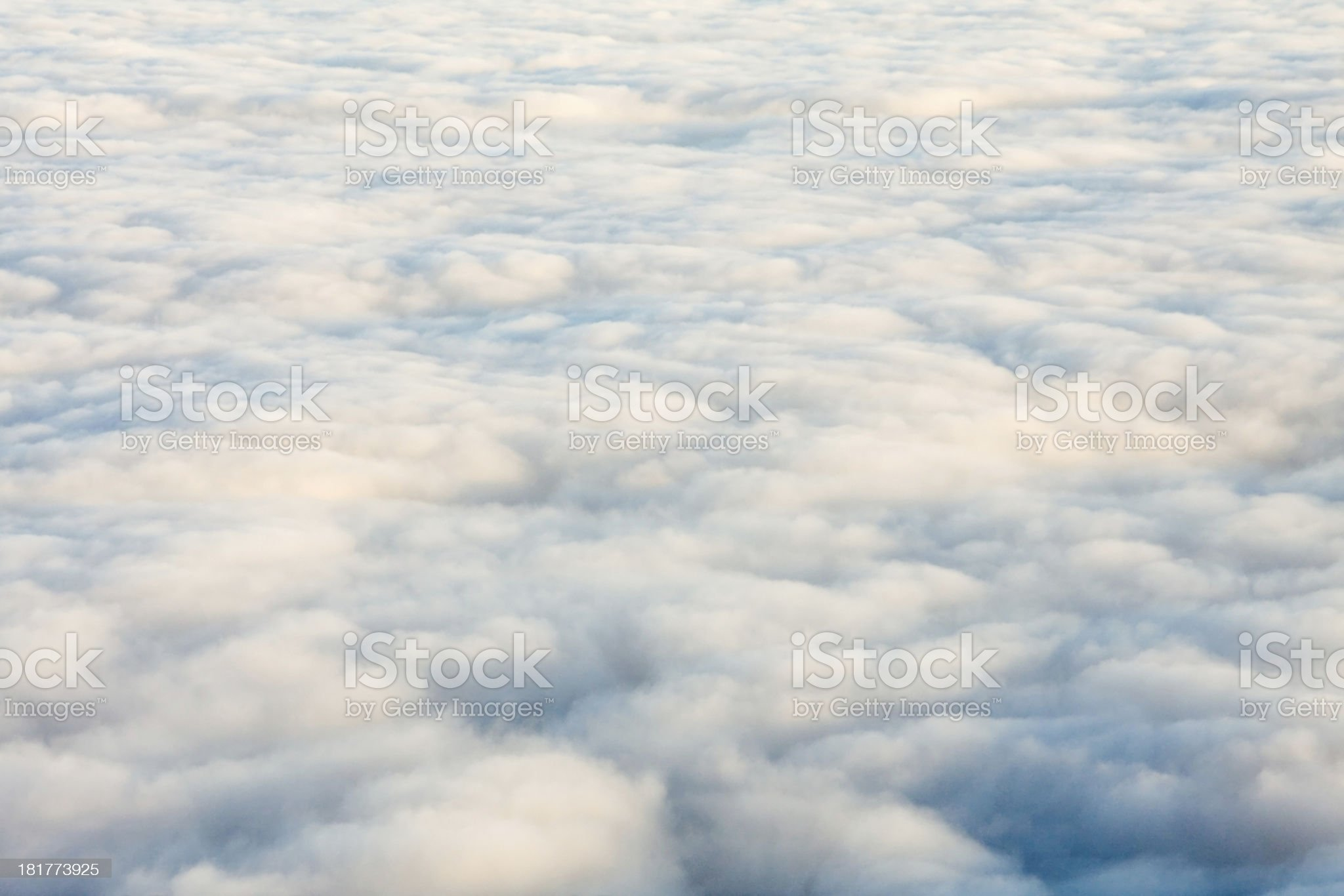 Inversion, only clouds royalty-free stock photo