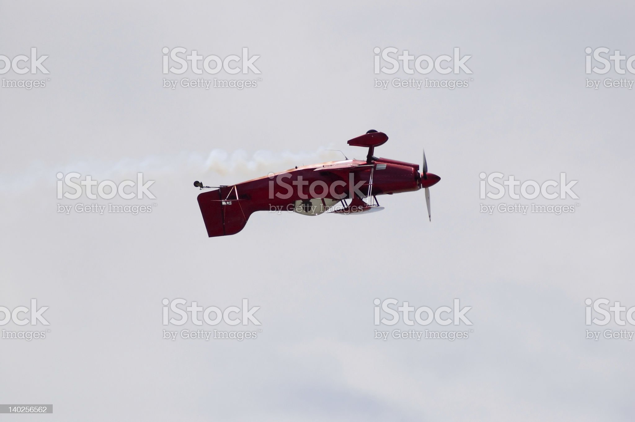 Inverted Biplane royalty-free stock photo