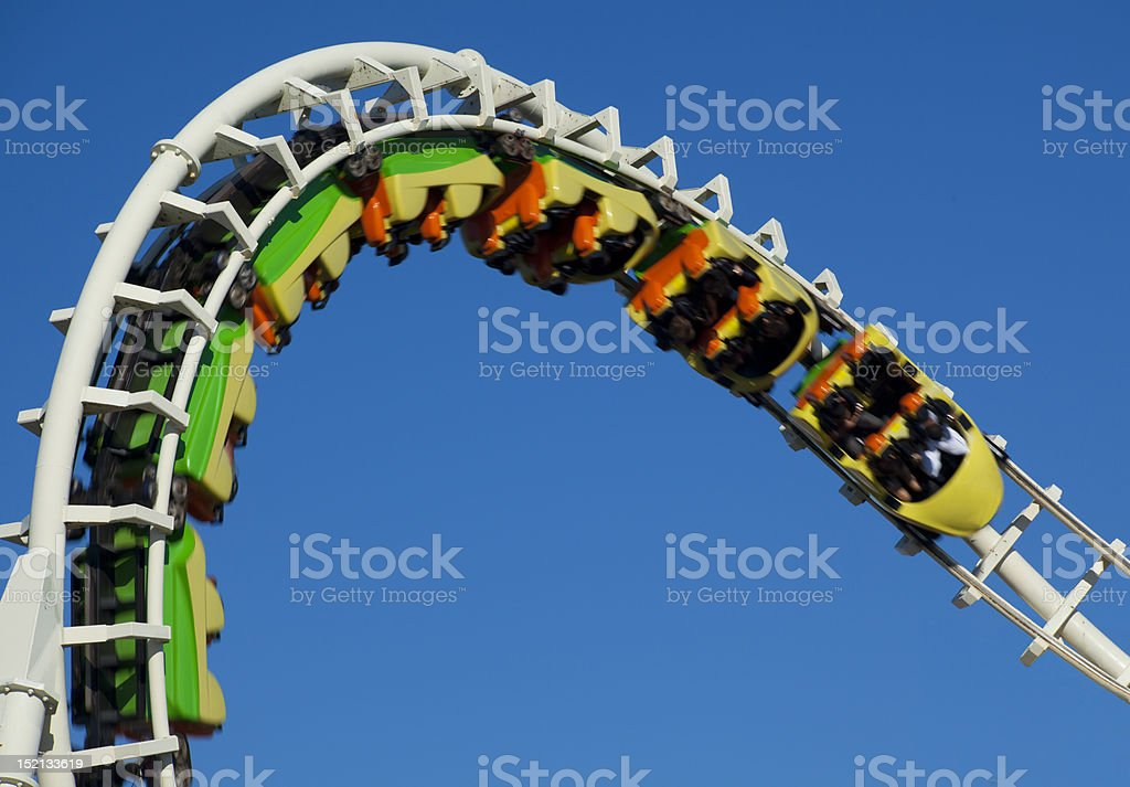 Inverted Rollercoaster royalty-free stock photo