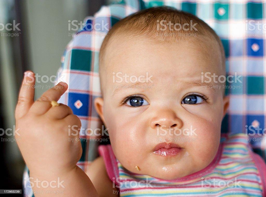 Inverted V Baby royalty-free stock photo