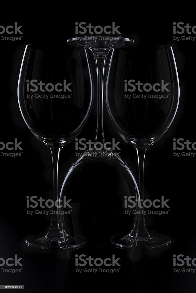 Inverted wine glass royalty-free stock photo