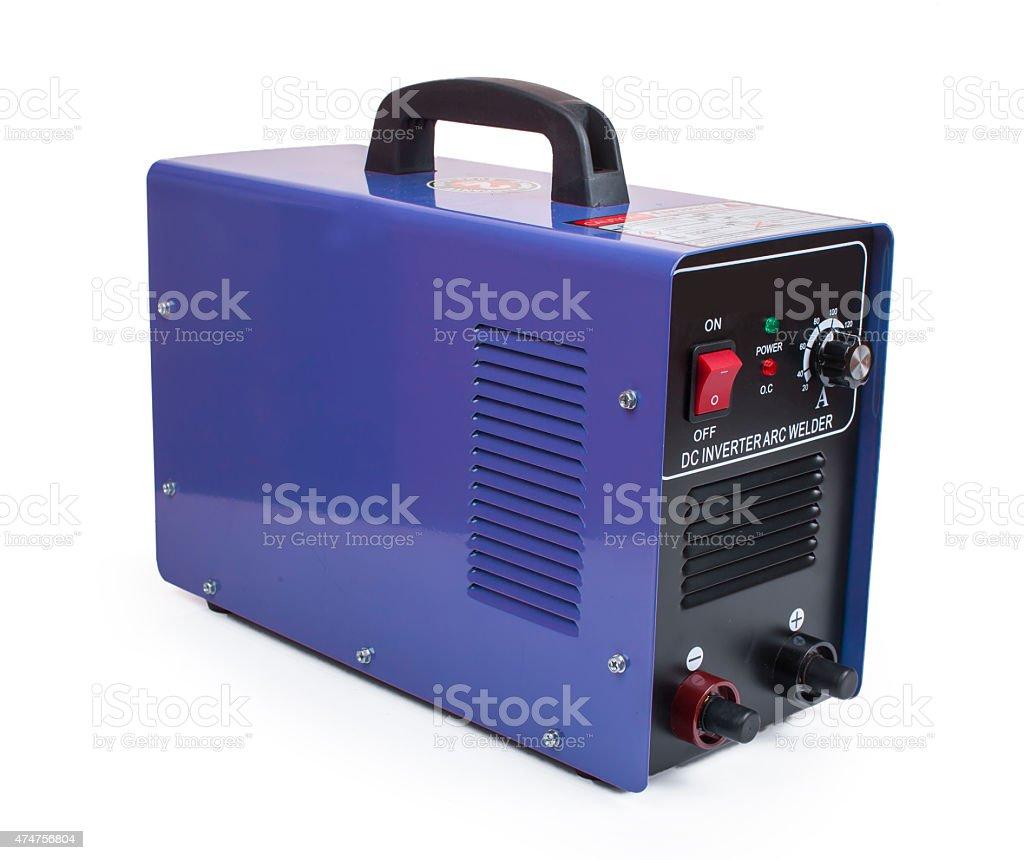 inverter welding machine isolated on white background stock photo
