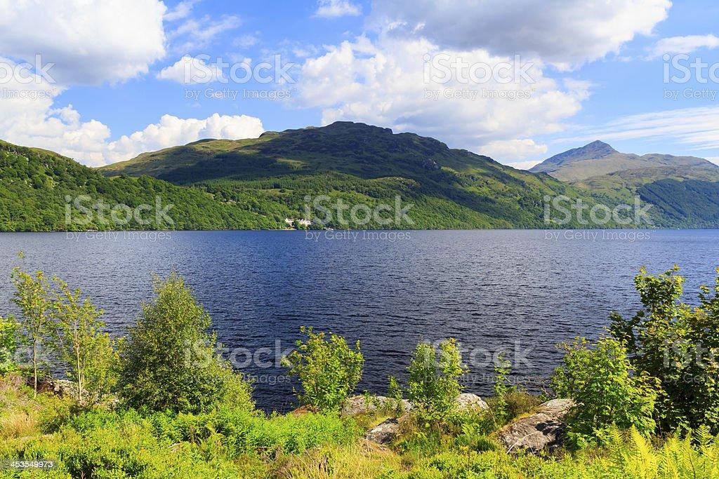 Inveruglas sur Loch Lomond Écosse photo libre de droits