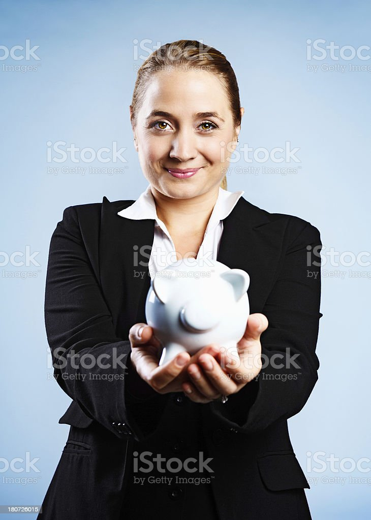 Invest for the future: it will make you happy stock photo