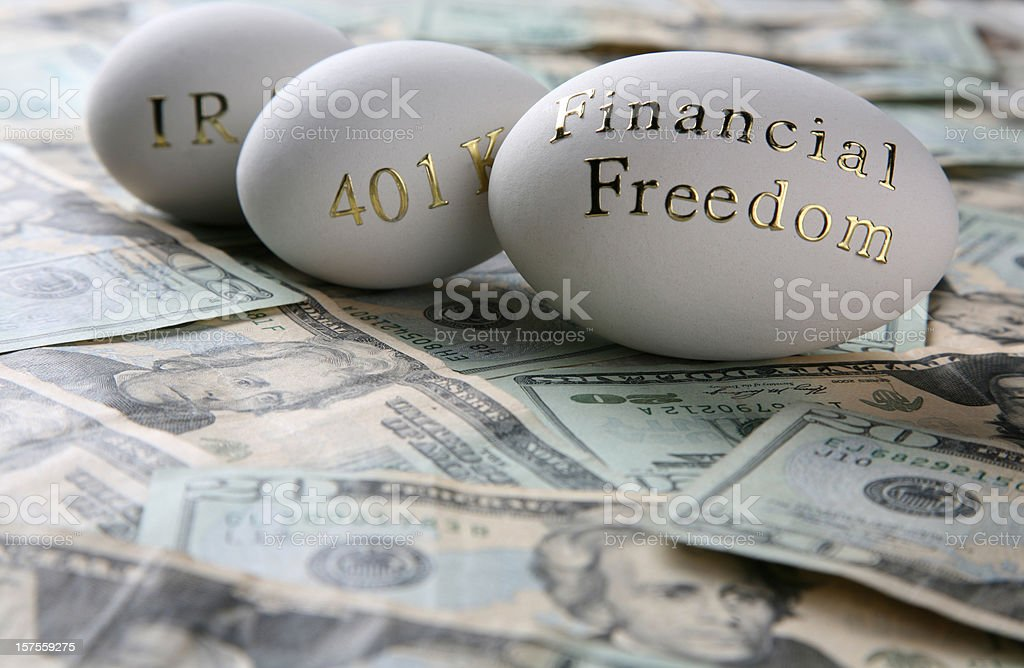 Invest for your financial freedom royalty-free stock photo