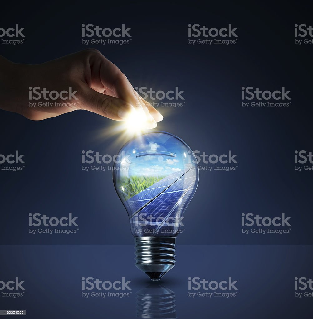 invest in solar energy - concept stock photo