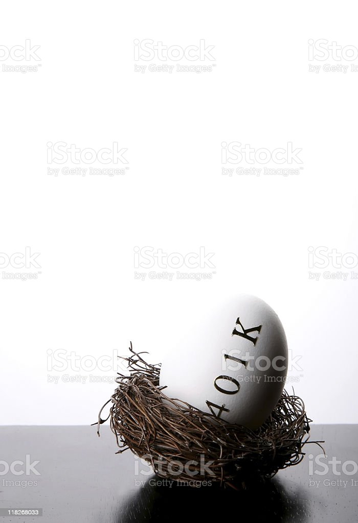 Invest in your 401k nest egg royalty-free stock photo