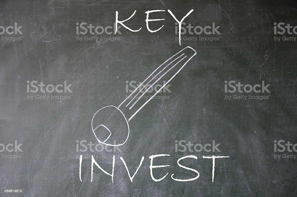 invest key royalty-free stock photo