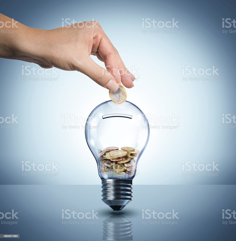 invest to energy concept stock photo