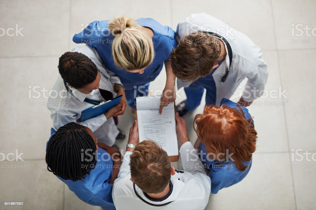 Invested in the health of their patients stock photo