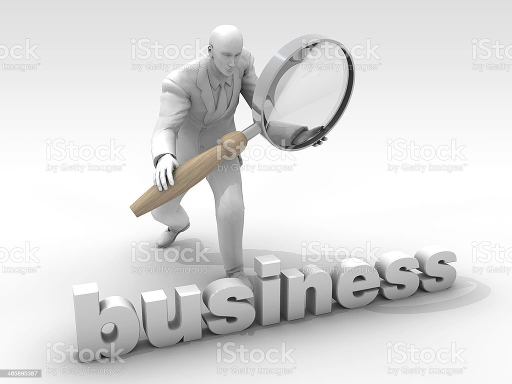 Investigate the business royalty-free stock photo