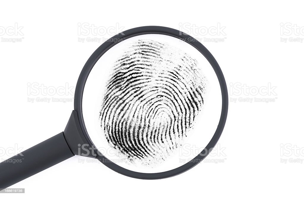 Investigating a fingerprint royalty-free stock photo