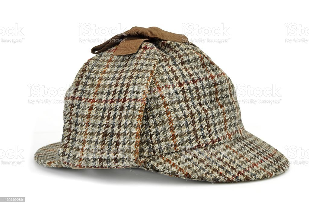 Investigation Concept Hat Famous As  Deerstalker stock photo
