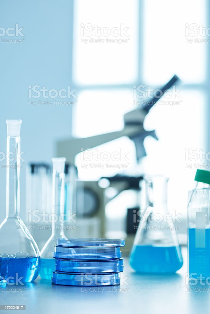 Investigation in laboratory royalty-free stock photo