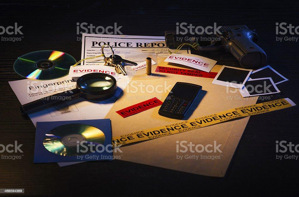 Investigation in progress stock photo
