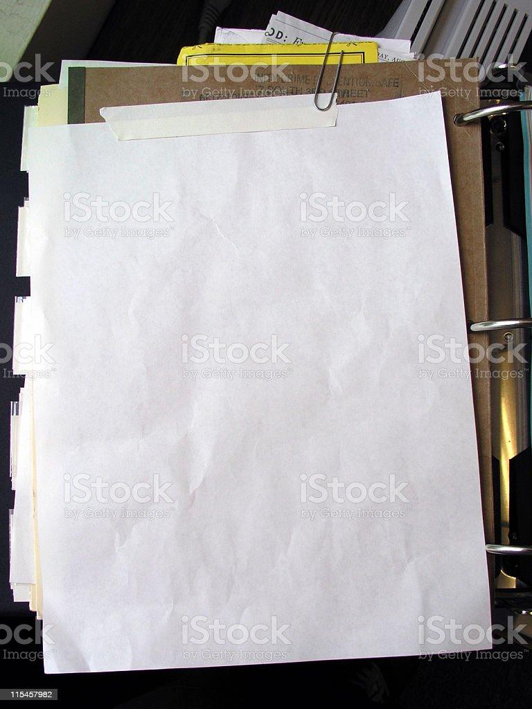 Investigation Office Document 3 stock photo