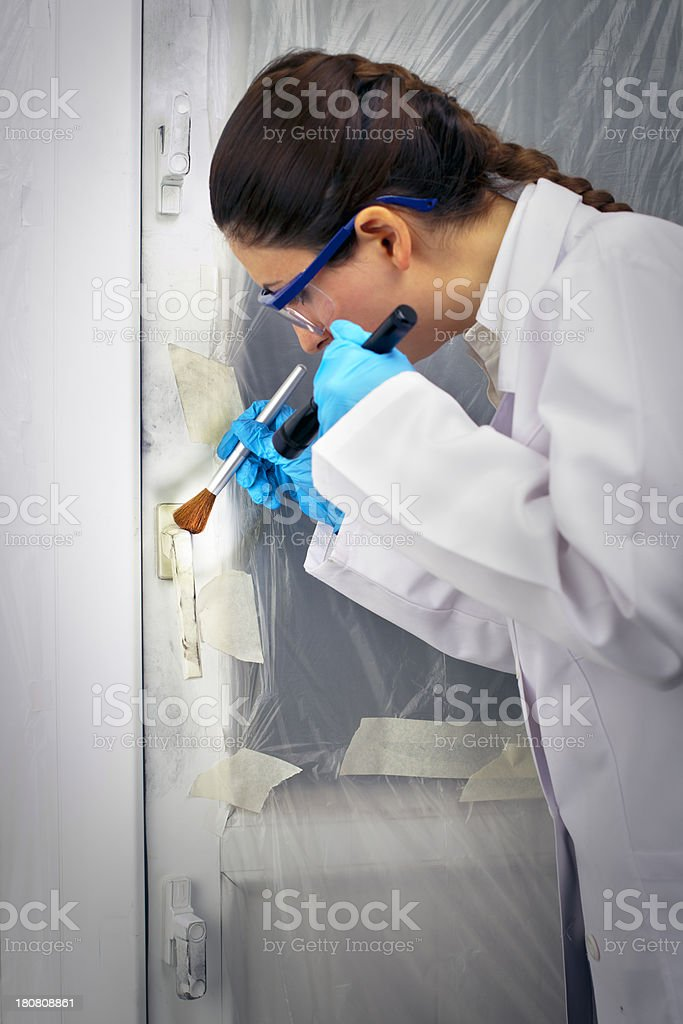 Investigation on Crime scene royalty-free stock photo