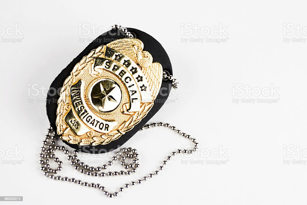 Investigator Badge stock photo