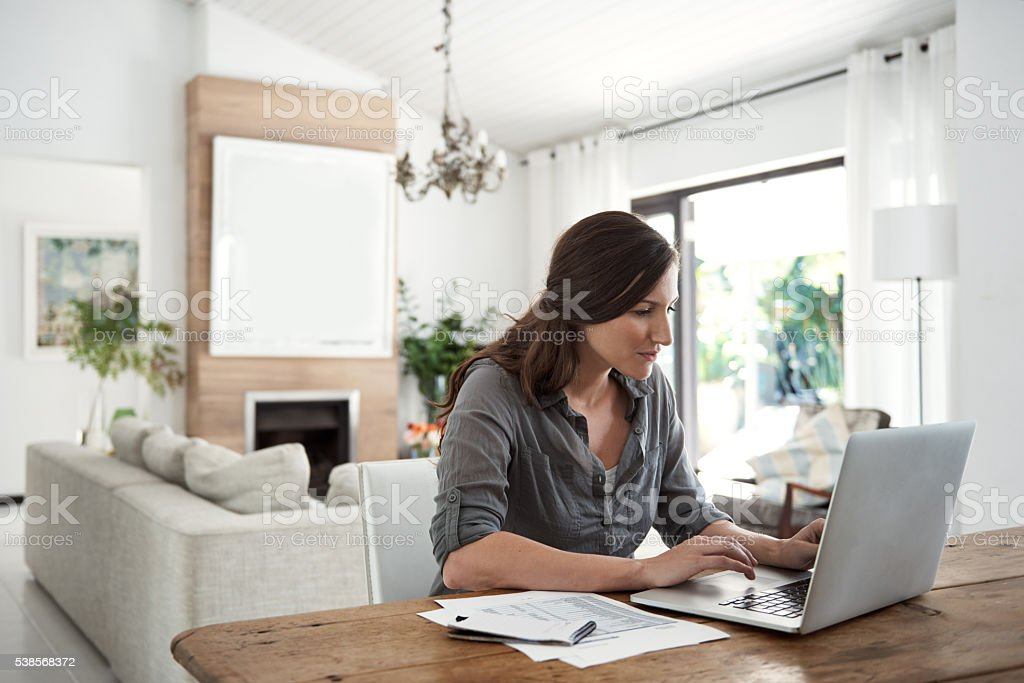 Investing in good household financial habits stock photo