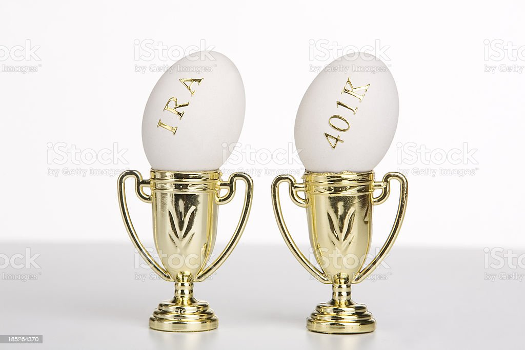 Investing in your award winning retirement nest egg royalty-free stock photo