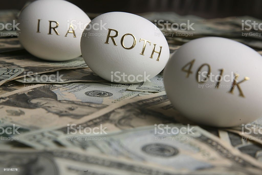 Investing money for retirement royalty-free stock photo