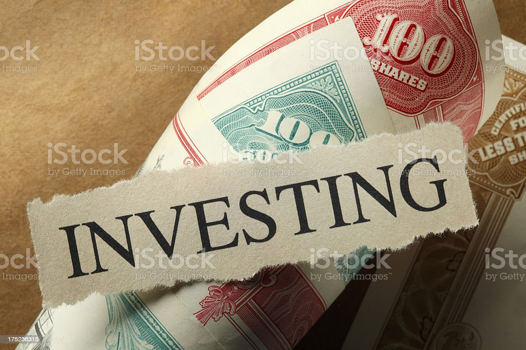 Investing royalty-free stock photo