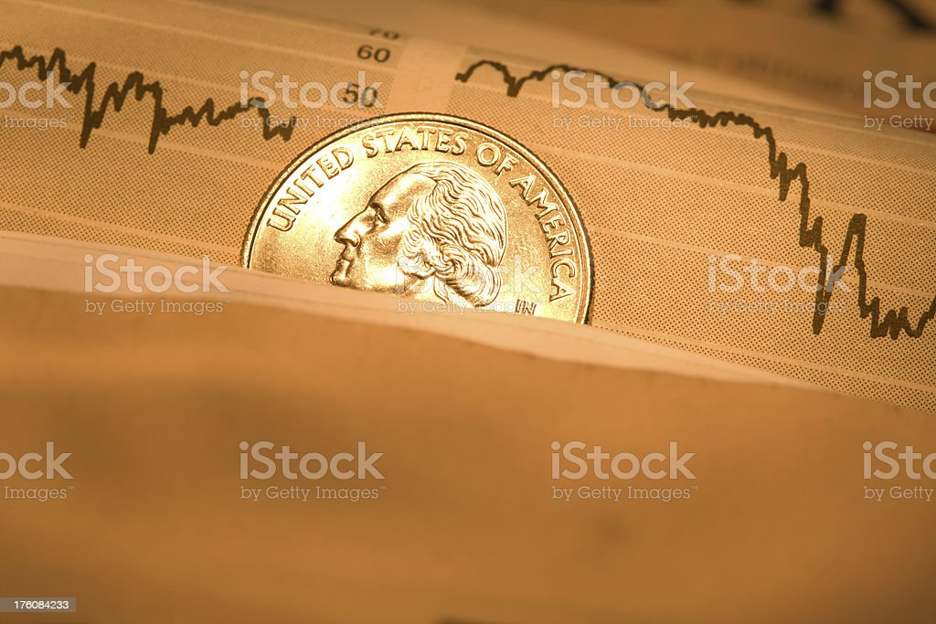 Investing (Composition from the newspaper) royalty-free stock photo