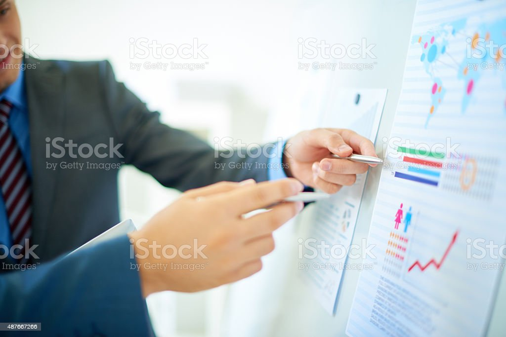 Investment analysis stock photo